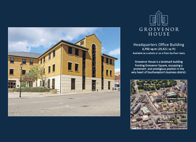 Property board design for Grosvenor House